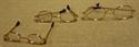 Billede af Briller ovale m. guldstel og plastglas til 28 cm. nisse