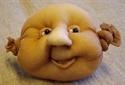 Billede af Færdigsyet ansigt m/åben mund 40/50 cm.