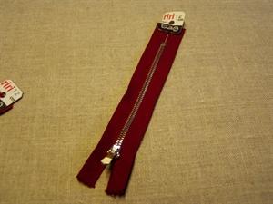 Billede af Bordeauxrød lynlås 12 cm.